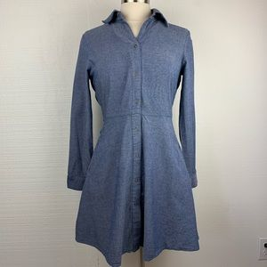 The Cue Cher Qu Long Sleeve Chambray Dress